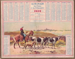 ALMANACH DES POSTES 1926 - FORMAT LIVRET CARTONNE SIMPLE - COMPLET AVEC CARTE - DEPARTEMENT DU GARD. - Calendars