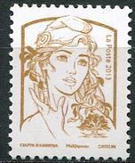 Marianne De Ciappa-Kawena, Vignette Impression Or, Sans Valeur D'affranchissement - 2013-... Marianne De Ciappa-Kawena