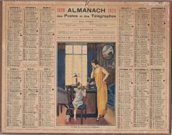 ALMANACH DES POSTES 1926 - FORMAT LIVRET CARTONNE SIMPLE - INCOMPLET MANQUE CARTE - DEPARTEMENT DE L'ISERE - Calendars