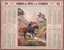 ALMANACH DES POSTES 1924 - FORMAT LIVRET CARTONNE SIMPLE - COMPLET AVEC CARTE - DEPARTEMENT DU GARD. - Calendars