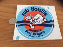 AUTOCOLLANT, Sticker «sub Flottille - Plongée - Port-Vendres (66)» (escargot) - Autocollants