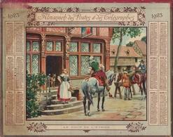 ALMANACH DES POSTES 1923 - FORMAT LIVRET CARTONNE DOUBLE - COMPLET - DEPARTEMENT DU GARD - Calendars
