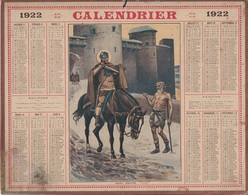 ALMANACH DES POSTES 1922 - FORMAT LIVRET CARTONNE SIMPLE - COMPLET - DEPARTEMENT DE L'ISERE. - Calendars