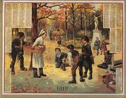 ALMANACH DES POSTES 1919 - FORMAT LIVRET CARTONNE SIMPLE - COMPLET - DEPARTEMENT DU NORD - VERSO LISTE DES COMMUNES. - Calendari