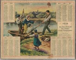 ALMANACH DES POSTES 1919 - FORMAT LIVRET CARTONNE SIMPLE - COMPLET AVEC CARTE - DEPARTEMENT DU RHONE. - Calendars