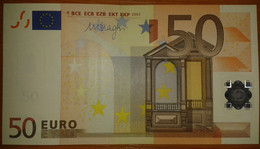 Europe SLOVAKIA 50 Euro 2002 E-serie UNC, DRAGHI Sign, Printer R052 - EURO