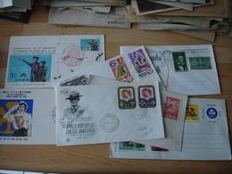 Lot De 7 Scouts Scout  Scoutisme  Annee 50 .60 Fdc Enveloppe 1 Er Joiur - Storia Postale