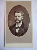 Photographie CDV - Fin XIX ème - Portrait Homme - Moustache Et Favoris - Photo Jamin & Cie, Paris - 1874  TBE - Photographs