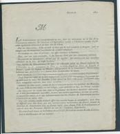 226/28 - Document BRUGES 1807 - 3 Pages Sur Les Comités De Remplacements De La Conscription Militaire - 1794-1814 (Période Française)