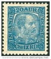 IJSLAND-ICELAND 1902-05 20aur Christian IX PF-MNH - Ongebruikt