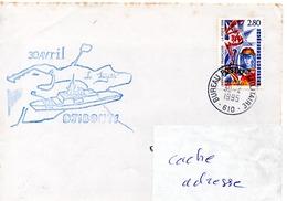 FLF LA FAYETTE Escale à Djibouti Obl. Bureau Postal Militaire 610 (Djibouti) 30/04/95 - Postmark Collection (Covers)