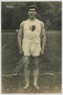 (Athlétisme) Carte Photo De L'athlète Français Raoul Paoli . Lancer Du Poids . Jeux Olympiques De 1924 à Paris . - Athlétisme
