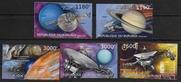BURUNDI  N° 1894/97 * *  NON DENTELE Espace Astronomie Voyager 2 - Astronomie