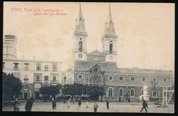 CADIZ   PLAZZA DE CONSTITUCION E IGLESIA DE SAN ANTONIO - Cádiz
