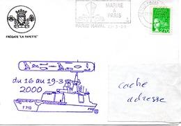 FLF LA FAYETTE Escale En Egypte Obl. Paris Naval 27/03/00 - Postmark Collection (Covers)