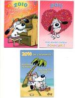 Calendrier De Poche Kalender 3stuks/pcs   Zakkalender Pocket Calendar Taschenkalender Hond Chien BD Dog Hund - Calendriers
