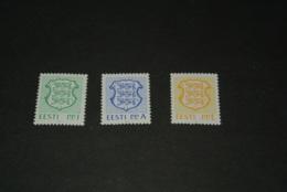 K18318 - Set MNH Estlonia - Eesti 1992 - MI. 183-185 - Nat. Arms - Estonia