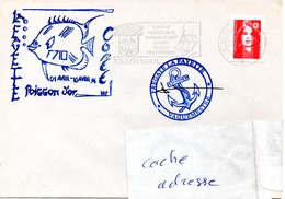 FLF LA FAYETTE  Mission Poisson D'Or Obl. Toulon Naval 05/04/96 - Postmark Collection (Covers)
