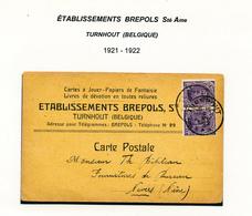 231/28 - CARTES A JOUER Belgique - Carte Publicitaire TP Petit Albert TURNHOUT 1922 - Etablissements BREPOLS - Games