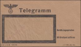 Deutsches Reich 1943 Telegramm-Umschlag DV A.M.L. 8.43, Ungbebraucht ** - Deutschland