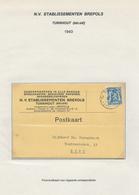 234/28 - CARTES A JOUER Belgique - Carte Publicitaire TP Petit Sceau TURNHOUT 1943 - Etablissements BREPOLS - Games