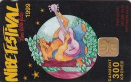 Denmark, DD 210, 300 Kr, Nibe Festival '99, Only 1.196 Issued, 2 Scans. - Danemark