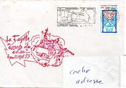 FLF LA FAYETTE  Essais De Choc Obl. Lorient Naval 04/09/95 - Postmark Collection (Covers)