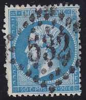 N°22 Retouche Complète De Meinhertzagen, Position 121F3, Très Rare Et En Plus Assez Bien Centré - 1862 Napoléon III