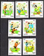 Kampuchea - 1989. Pre - Italia '90. Complete Series MNH - Coppa Del Mondo