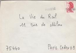 """LSC - Oblitération Linéaire """" PARIS 14 """" - Postmark Collection (Covers)"""