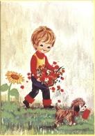 Tematica - Bambini - 1974 - 50 Lire Nicccolò Tommaseo - Bambino Con In Mano Un Mazzo Di Fiori - Viaggiata Da Caorso Per - Disegni Infantili