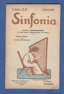 Revue Hebdomadaire SINFONIA N° 31 - Mouvement Symphonique En France - 5 Janvier 1920 - Concert Pasdeloup - Books, Magazines, Comics
