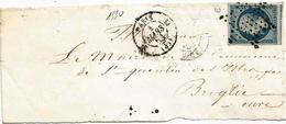 - SEINE - PARIS -  Etoile Muette S/TPND Napoléon III N°10 + Cachet De Route N°1330 - 1853 - Voir - 1852 Louis-Napoléon