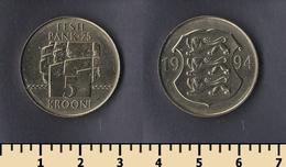 Estonia 5 Krooni 1994 - Estonie
