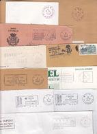 Lot 15 Lettres Oblitérations Différentes PP PORT PAYE De 27 EVREUX RP Département EURE : TàD Manuel SECAP - 1961-....