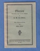 Livre Vers 1910 1920 - OBERON - Romantische Oper In Drei Aufzügen - Gustav Mahler Universal Edition Wien Leipzig Opera - Musique