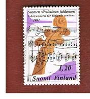 FINLANDIA (FINLAND) -  SG 1017        -    1982  MUSIC JUBILEE  -   USED ° - Usados