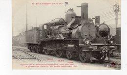 Les Locomotives (P.L.M.)  Machine N°B.180  Pour Trains De Grandes Lignes - Trains