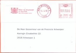 Belgium Nice Card EMA Kamer Van Koophandel En Nijverheid  Antwerpen 1998 - Maschinenstempel