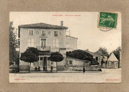 CPA - SEMALENS (81) - Aspect Du Café-Hôtel Du Centre Et De La Bascule En 1908 - Francia