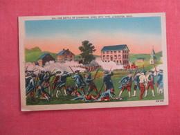 Battle Of Lexington April 19  1775    Massachusetts >   Ref 3113 - History