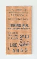 BIGL--00034-- BIGLIETTO FERROVIE DELLO STATO-SEMPLICE ORDINARIO 2 CLASSE-SPOTORNO NOLI-TORINO- 08-3-1984 - Europa