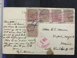 Postcard Guatemala Circulated In Honduras 1924 - Honduras