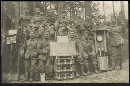 Ansichtskarte I. WK Maschinisten Aus Fort Hake 1914/15 Polen - Guerre 1914-18