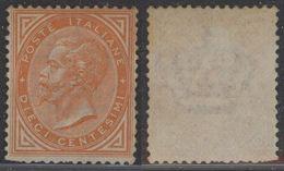 Italy 1863 King Viktor Emanuel II 10C Mi.17 MNG AM.567 - Nuovi