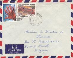CONGO - Brazzavile 1985 - Cover To Belgium - Y&T 743 Stop Polio - 735 Cinquantenaire Du C.F.C.O - Congo - Brazzaville