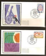 Belgique Belgie 1981 FDC Soie Zijde  OCB N° 1999-2000 (°) Oblitéré Used  Cote 6,50 Euro - FDC