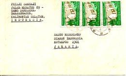 INDONESIE. N°841 De 1979 Sur Enveloppe Ayant Circulé. Construction De Logements. - Indonesia
