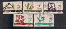 ARABIA SAUDITA  SHARJAH  1965   GIOCHI DEL CAIRO   YVERT   122-126   USATA   XF - Arabia Saudita
