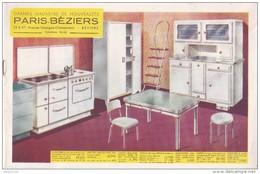 Brochure Publicitaire 8 Pages Paris Béziers MOBILIER Années 1950 1960 - Belles Illustrations - 3 Scans - - Advertising